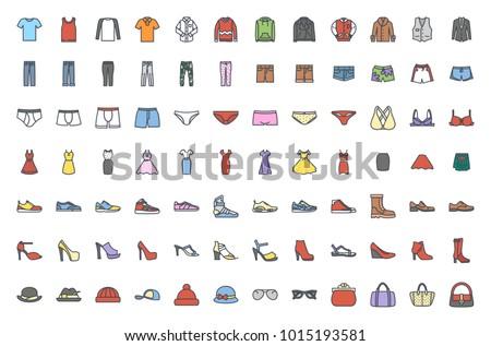 Clothes colored icon