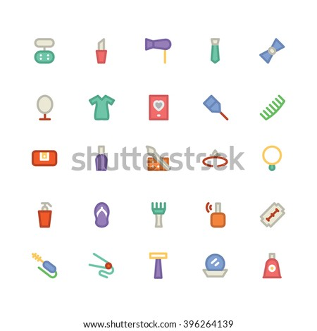 clothes flat bold vector icons 6