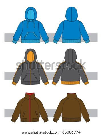 clothes for little boys - stock vector