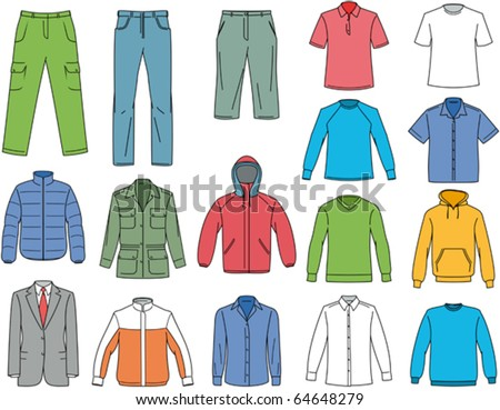 Shutterstock Clothes for men illustration. Vector clothing
