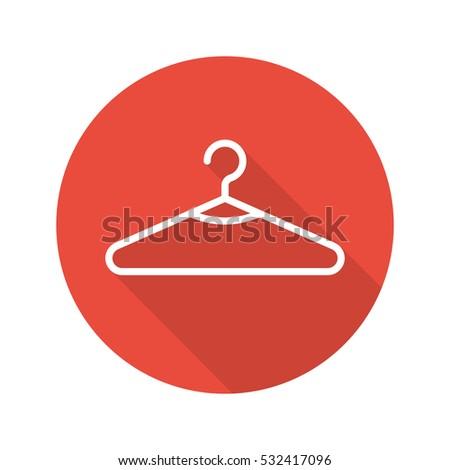 clothes hanger flat linear long