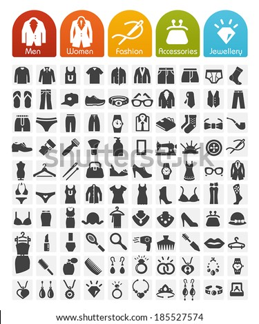 clothes icons bulk series   100