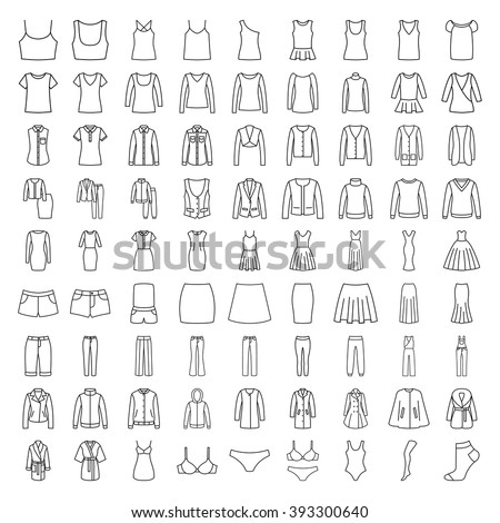 clothes icons line icons