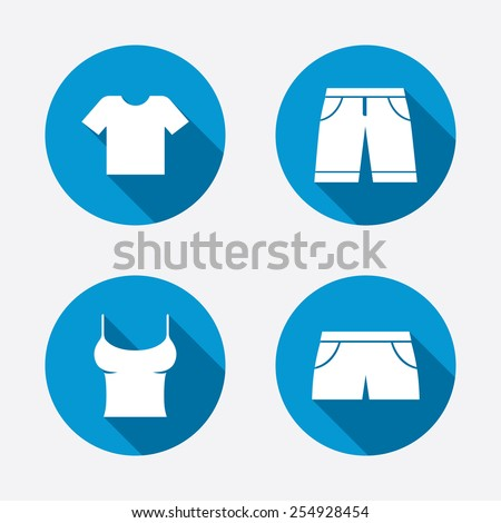 clothes icons t shirt and