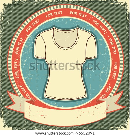 Clothes label set on vintage old paper.Vector t-shirt background