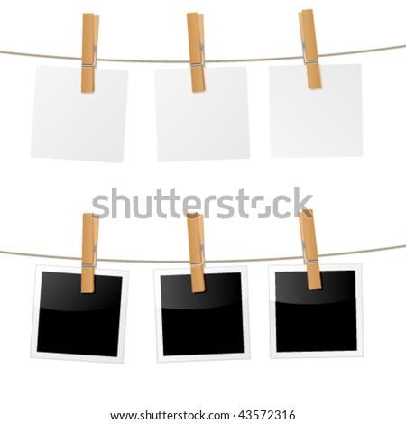 clothes peg, clothes pin - vector image ストックフォト ©
