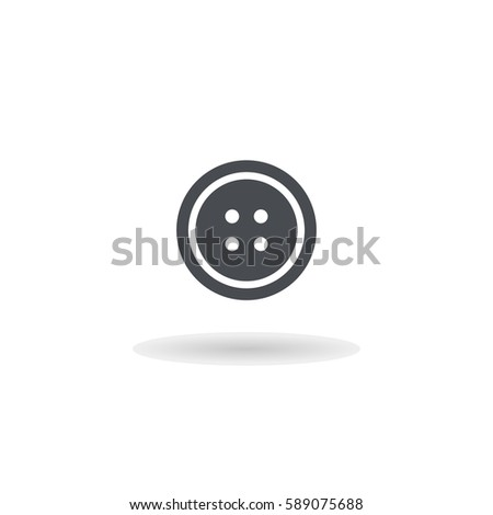 Clothing button icon illustration isolated vector sign symbol
