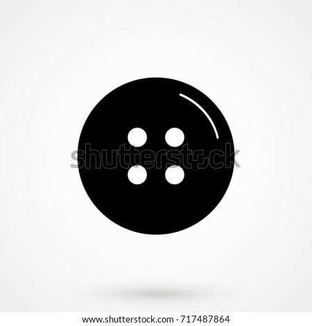 clothing button icon isolated on background. Modern flat pictogram, business, marketing, internet concept. Trendy Simple vector symbol for web site design or button to mobile app. Logo illustration