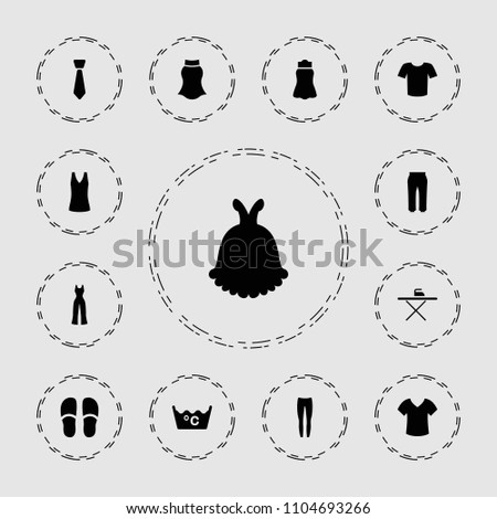 clothing icon collection of 13