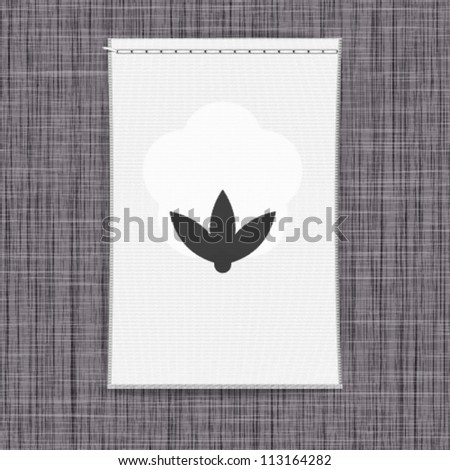 Clothing label background. Vector.