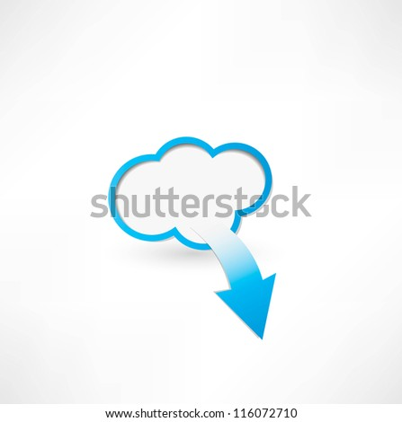 Cloud And Arrow. Cloud computing concept