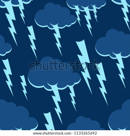 cloud and lightning pattern