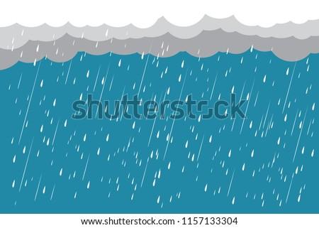 cloud and rain  rainy season