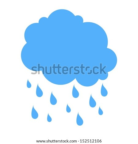 cloud and rain silhouette blue