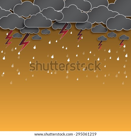 cloud and rain  thunderstorm