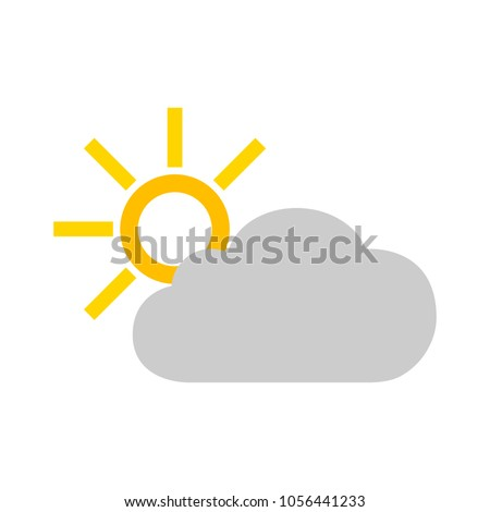 cloud and sun icon   weather