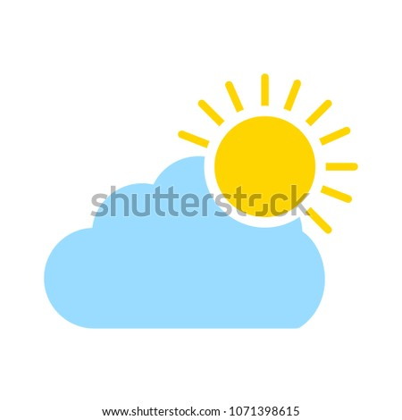 Cloud and sun - weather forecast icon, seasons clouds