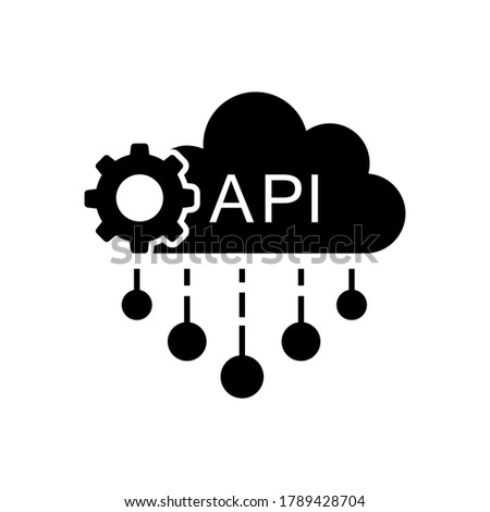 Cloud API vector icon. software integration illustration sign. application symbol.