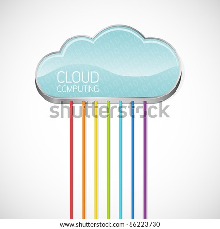 Cloud computing. Abstract vector illustration.