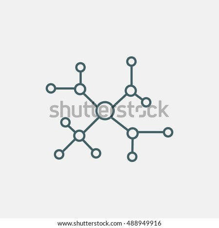 cloud computing and networks concept icon vector isolated on white background. social network vector icon