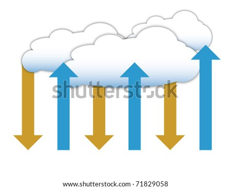 Cloud computing, business and technology diagram