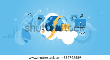 cloud computing concept for