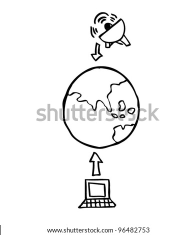 cloud computing concept illustration topology / business - vector illustration