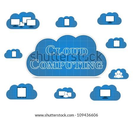 Cloud computing concept, vector eps10 illustration
