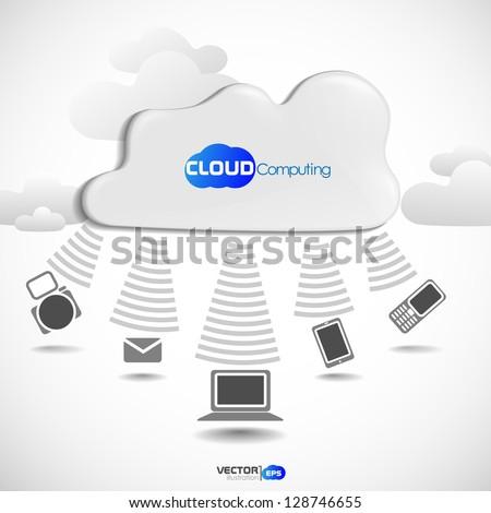 Cloud computing concept. Vector illustration. Eps 10.