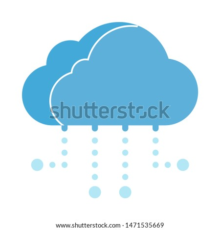 cloud-computing icon. flat illustration of cloud-computing - vector icon. cloud-computing sign symbol