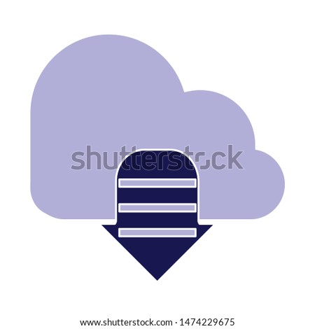 cloud computing icon. flat illustration of cloud computing vector icon. cloud computing sign symbol