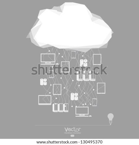 Cloud computing network as concept