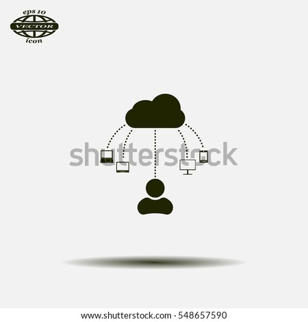 Cloud, computing, service illustration.
