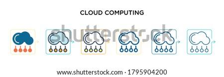 cloud computing vector icon in