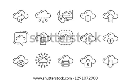 11b3fd27f Cloud Computing Icon Set - Download Free Vector Art