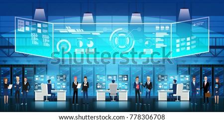 cloud data center server room