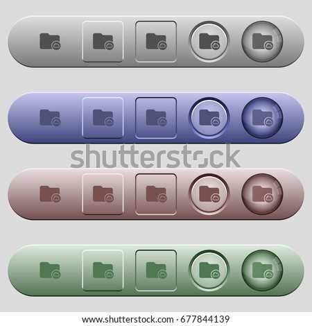 Cloud directory icons on rounded horizontal menu bars in different colors and button styles #677844139