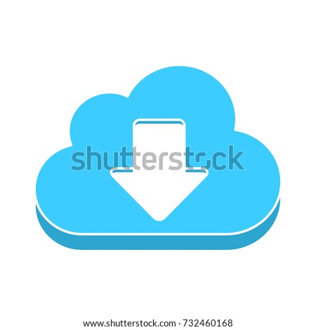 cloud download flat icon