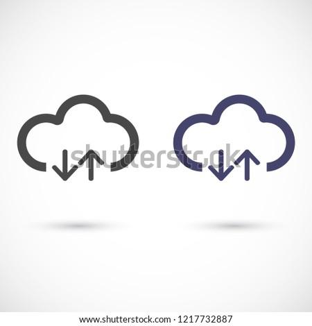 cloud download vector icon 10 eps