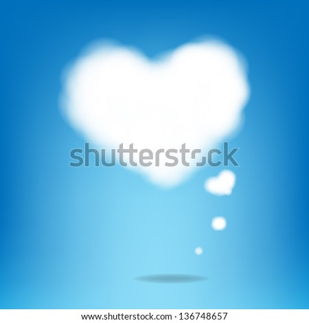 cloud from hearts with blue