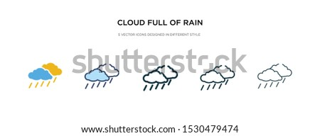 cloud full of rain icon in
