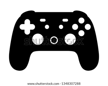 Cloud gaming video game controller flat vector icon for games and websites.