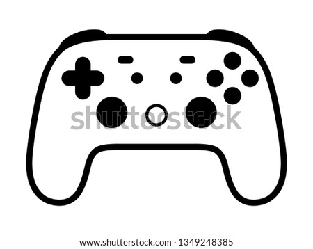 Cloud gaming video game controller flat vector icon for games and websites