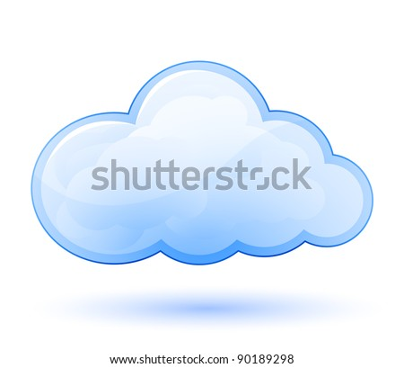 cloud glossy icon. vector...
