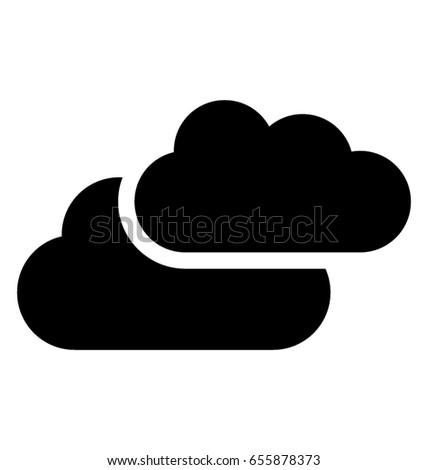 Cloud Glyph Vector Icon