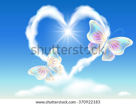 cloud heart in the sky and