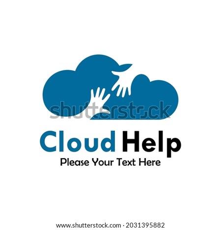 cloud help logo template