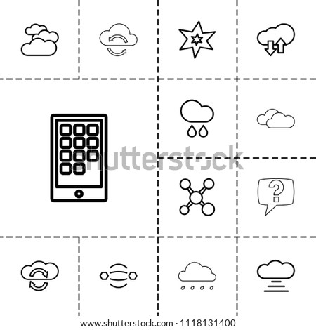 cloud icon collection of 13