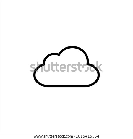 Cloud icon for cloud computing web and app. Simplus series