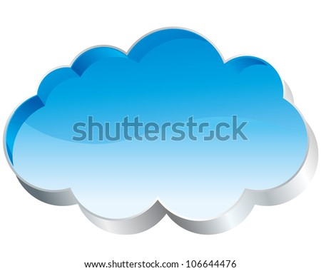Cloud icon glossy vector